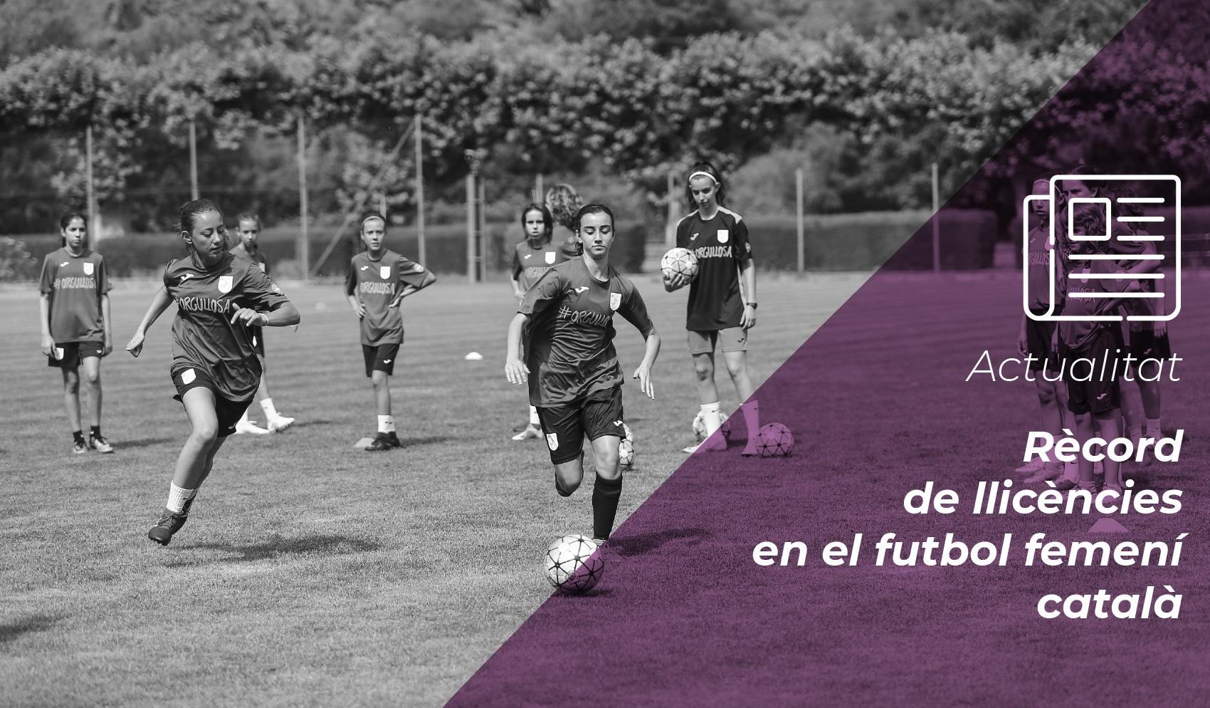 Rècord de llicències en el futbol femení català 11