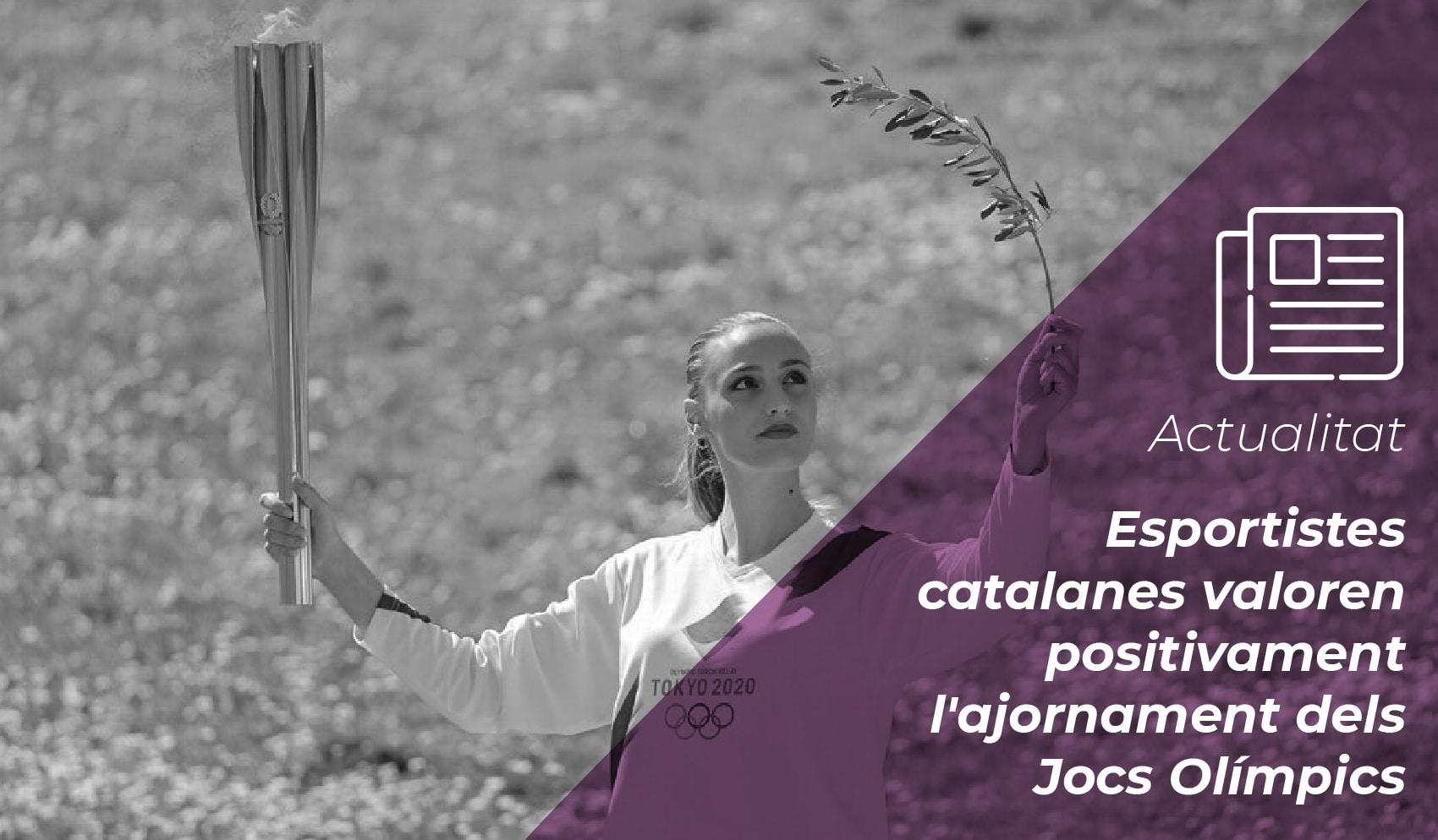 Esportistes catalanes valoren positivament l'ajornament dels Jocs Olímpics 9