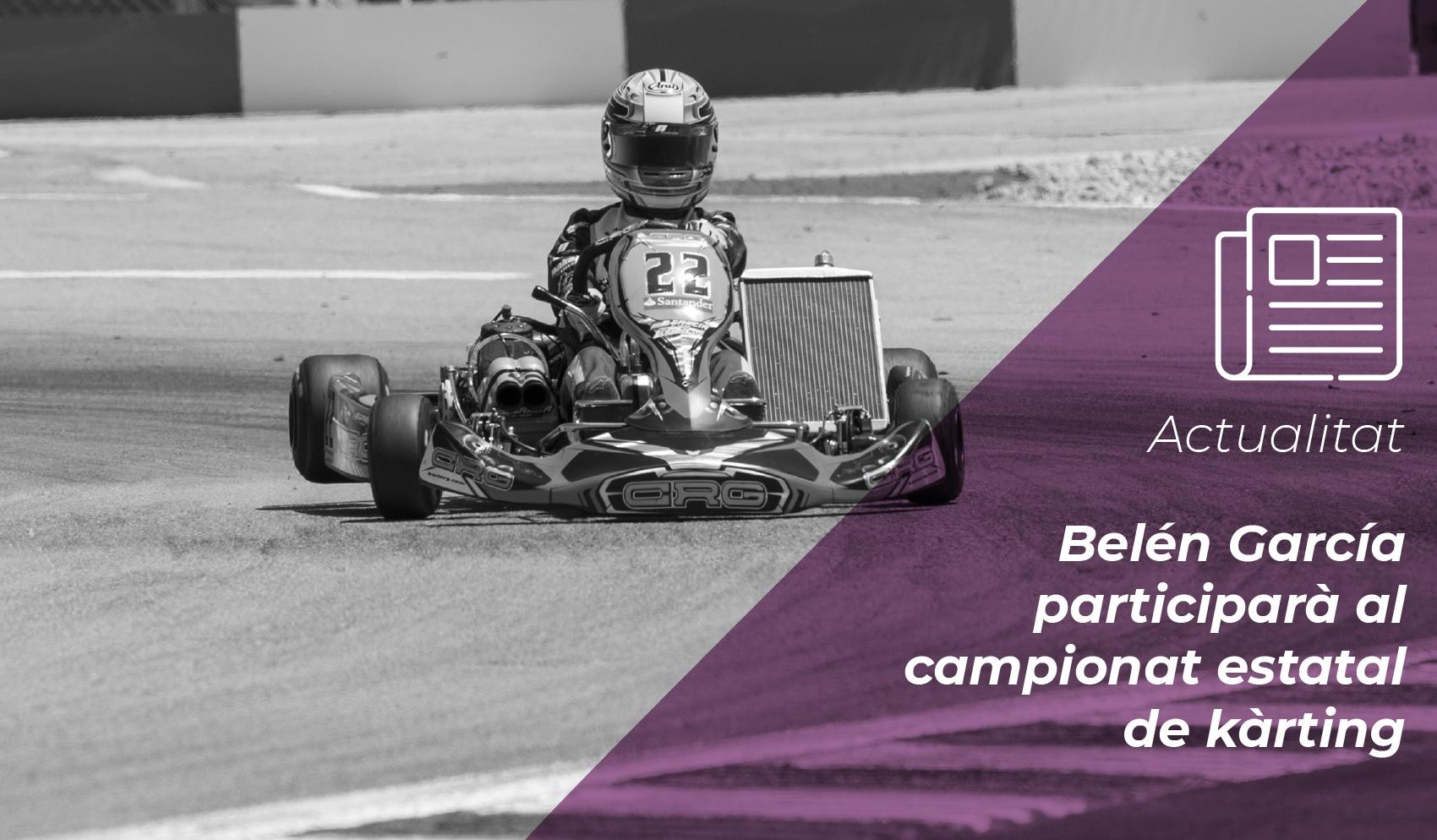 Belén García participarà al campionat estatal de kàrting després de la suspensió de les W Series 1
