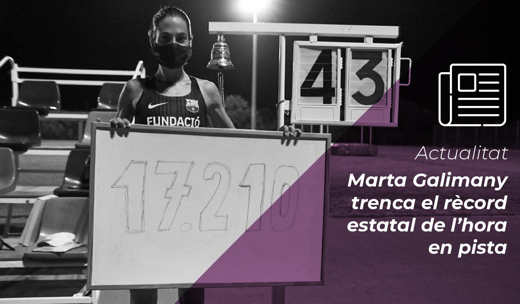 Marta Galimany trenca el rècord estatal de l'hora en pista 8
