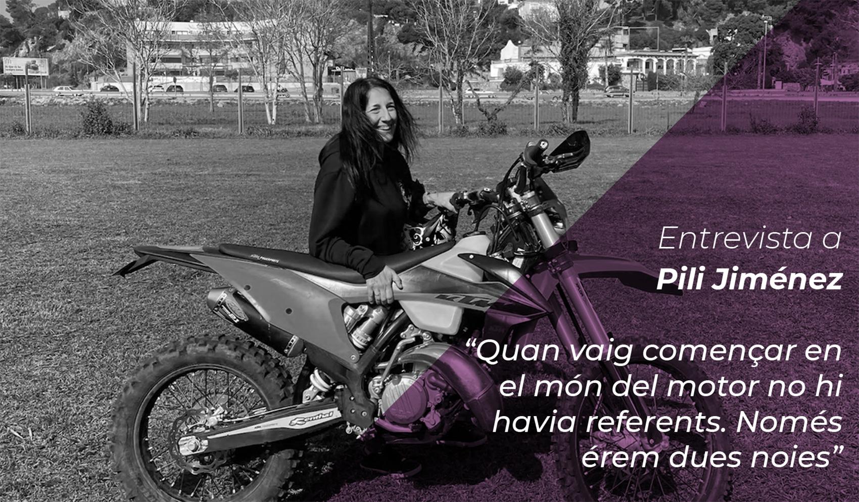 """Pili Jiménez: """"Quan vaig començar en el món del motor no hi havia referents. Només érem dues noies"""" 1"""